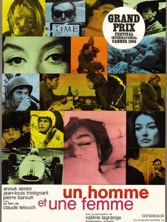 "A Man And a Woman, 1966, ""Un Homme Et Une Femme"" Directed by Claude Lelouch"