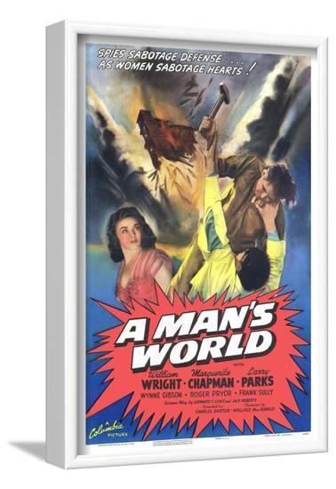 A Man's World--Framed Art Print