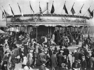 A Merry-Go-Round, Part of a Bank Holiday Carnival on Hamstead Heath, London, 1926-1927