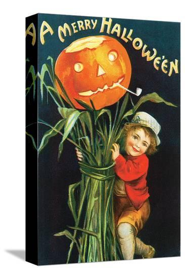 A Merry Halloween 2--Stretched Canvas Print