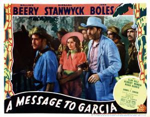 A Message to Garcia, Center, from Left, Barbara Stanwyck, John Boles, 1936