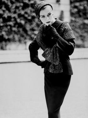 A Model of a Suit by Dress Designer Jean Desses, August 21, 1957