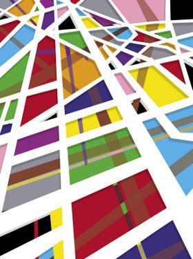 A Mosaic Shapes Texture