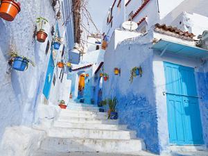 An Alleyway in the Medina, Chefchaouen, Morocco by A_nella