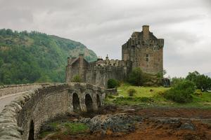 Eilean Donan Castle on a Cloudy Day. Low Tide. Highlands, Scotland. UK by A_nella