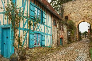 Old Street  in Medieval Village. Gerberoy is a Commune in the Oise Department in Northern France. F by A_nella