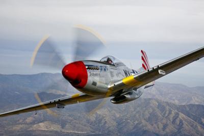 A P-51D Mustang in Flight Near Prescott, Arizona