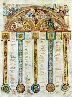 A Page of the Eusebian Canons, C800 Ad