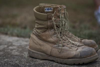 A Pair of Combat Boots Belonging to a U.S. Marine Corps Sergeant