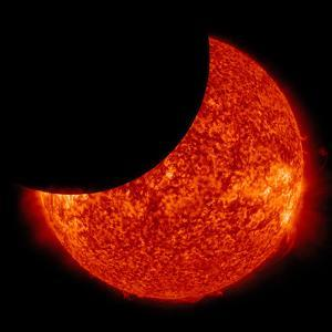 A Partial Solar Eclipse from Space