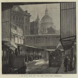 A Peep at St Paul's and The Times Office from Underground