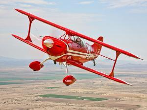 A Pitts Special S-2A Aerobatic Biplane in Flight Near Chandler, Arizona