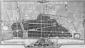A Plan for Rebuilding the City of London after the Great Fire in 1666