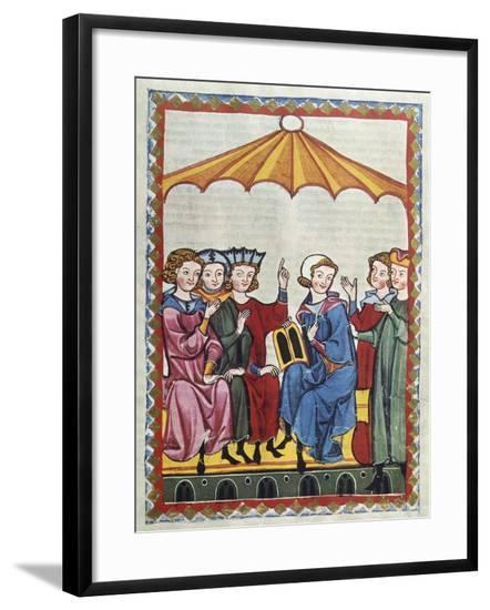 A Poet Sings of the Legend of Tristan and Iseult--Framed Giclee Print