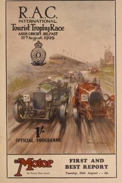 A Programme for the Rac International Tourist Trophy Race, Belfast, Northern Ireland, 1929