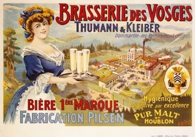Brasserie Des Vosges Poster by A. Quendray