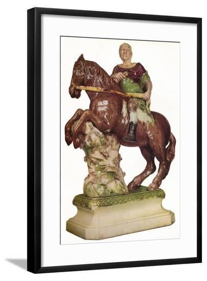 A Ralph Wood equestrian figure of King William III, in the guise of a Roman Emperor, 1785, (1923)-Ralph Wood-Framed Giclee Print