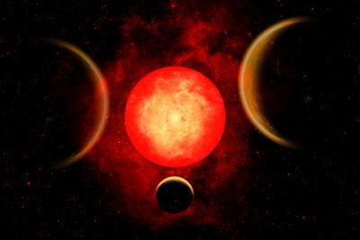 A Red Giant Star, Planetary Star System