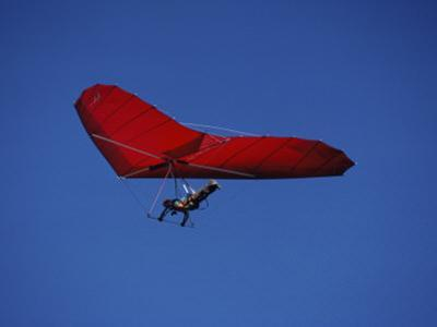 A Red Hang Glider