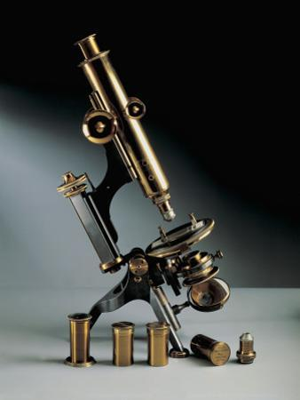 Close-Up of a Petrographic Microscope