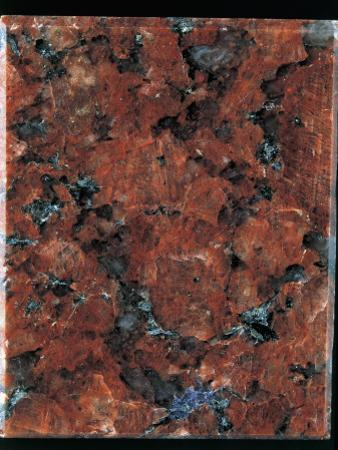 Close-Up of a Red Granite Rock