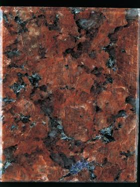 Close-Up of a Red Granite Rock by A. Rizzi