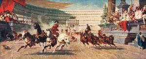 A Roman Chariot Race, Illustration from 'Hutchinson's History of the Nations'