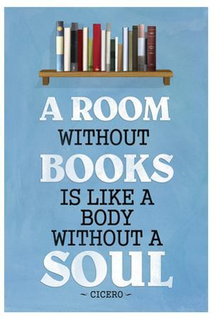 A Room Without Books Cicero Quote Plastic Sign