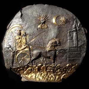 A Round Medallion Plate Describing Cybele, 2th Century BC