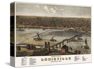Bird's Eye View of Louisville, Kentucky, 1876 by A. Ruger
