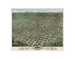 Bird's Eye View of the City of Atlanta, Georgia, 1871 by A^ Ruger