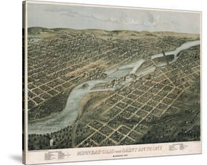 Minneapolis and Saint Anthony, Minnesota, 1867 by A^ Ruger