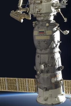 A Russian Cosmonaut Working on the Russian Segment of the International Space Station