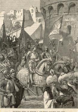 Third Crusade, Richard I Lands at Acre and Takes the City by A. Sandoz