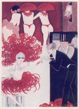 A Scene in a Paris Night Club at Midnight: Semi-Naked Dancers and their Admirers