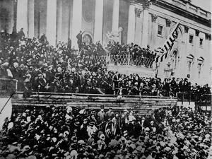 A Scene in Front of the Capitol During Lincoln's Second Inauguration,1865