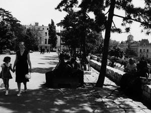 A Serbian Mother Strolling Hand in Hand with Her Daughter, Belgrade
