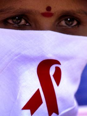 A Sex Worker Looks on During an Aids Awareness Rally on World Aids Day