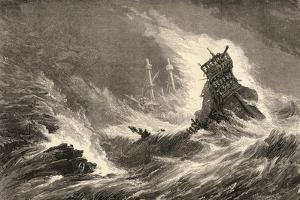 A Ship of the Spanish Armada, Wrecked on the West Coast of Ireland, Illustration from 'spanish…