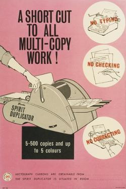 A Short Cut to All Multi-Copy Work!