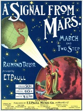 """""""A Signal from Mars"""" Sheet Music from the National Museum of American History"""