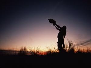 A Sioux Medicine Man Offers a Ritual Prayer to the Buffalo