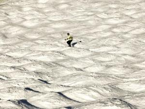 A Skier Makes His Way Down a Sea of Moguls at Sugarbush Ski Area