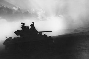 A Squadron of Tanks on the Way to Rammacca, Sicily, July 1943