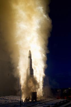 A Standard Missile-3 Is Launched from USS Lake Erie