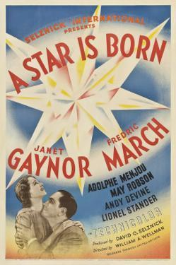 A Star Is Born, Janet Gaynor, Fredric March, 1937