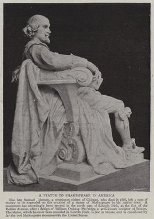 A Statue to Shakespeare in America