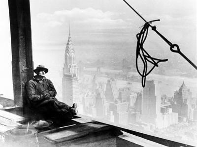 A Steel Worker Rests on a Girder at the 86th Floor of the New Empire State Building
