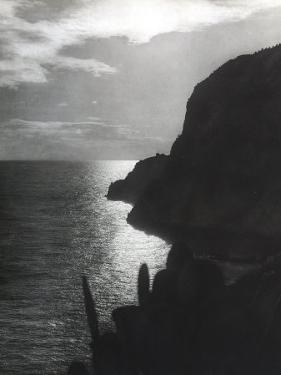 A Steep Promontory That Juts into the Sea of Capri at Sunset