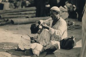 A Street Barber, Cairo, Egypt, 1936